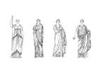 Disegno da colorare donne romane