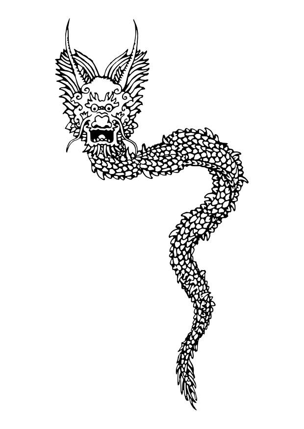 Disegno Da Colorare Drago Cinese Cat 27272