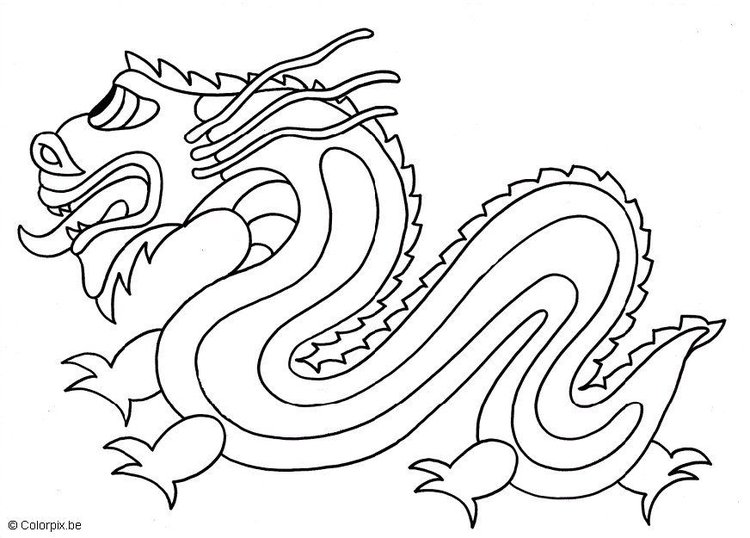 Disegno Da Colorare Drago Cinese Cat 5662 Images