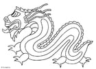 Disegno da colorare dragone cinese