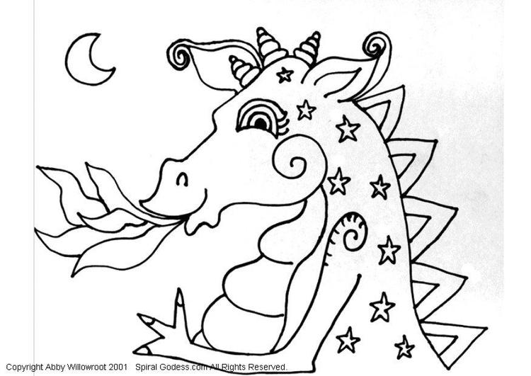 disegno da colorare dragone  disegni da colorare e