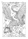 Disegno da colorare dragone volante