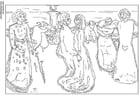 Disegno da colorare Edvard Munch