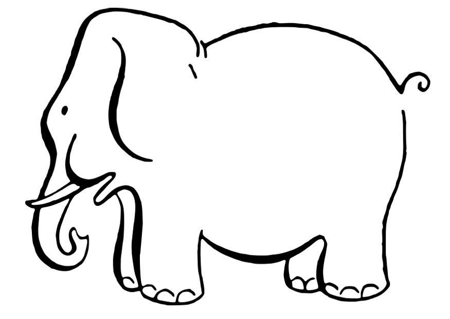 Afbeelding Olifant Kleurplaat Disegno Da Colorare Elefante Disegni Da Colorare E