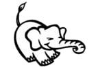 Disegno da colorare elefante