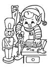 Disegno da colorare Elfi al lavoro