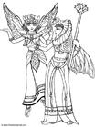 Disegno da colorare elfi in costume