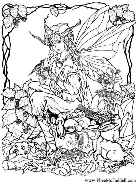 Disegno da colorare elfi nel bosco cat 6906 - Elfo immagini da stampare gratuitamente ...