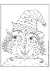 Disegno da colorare elfo