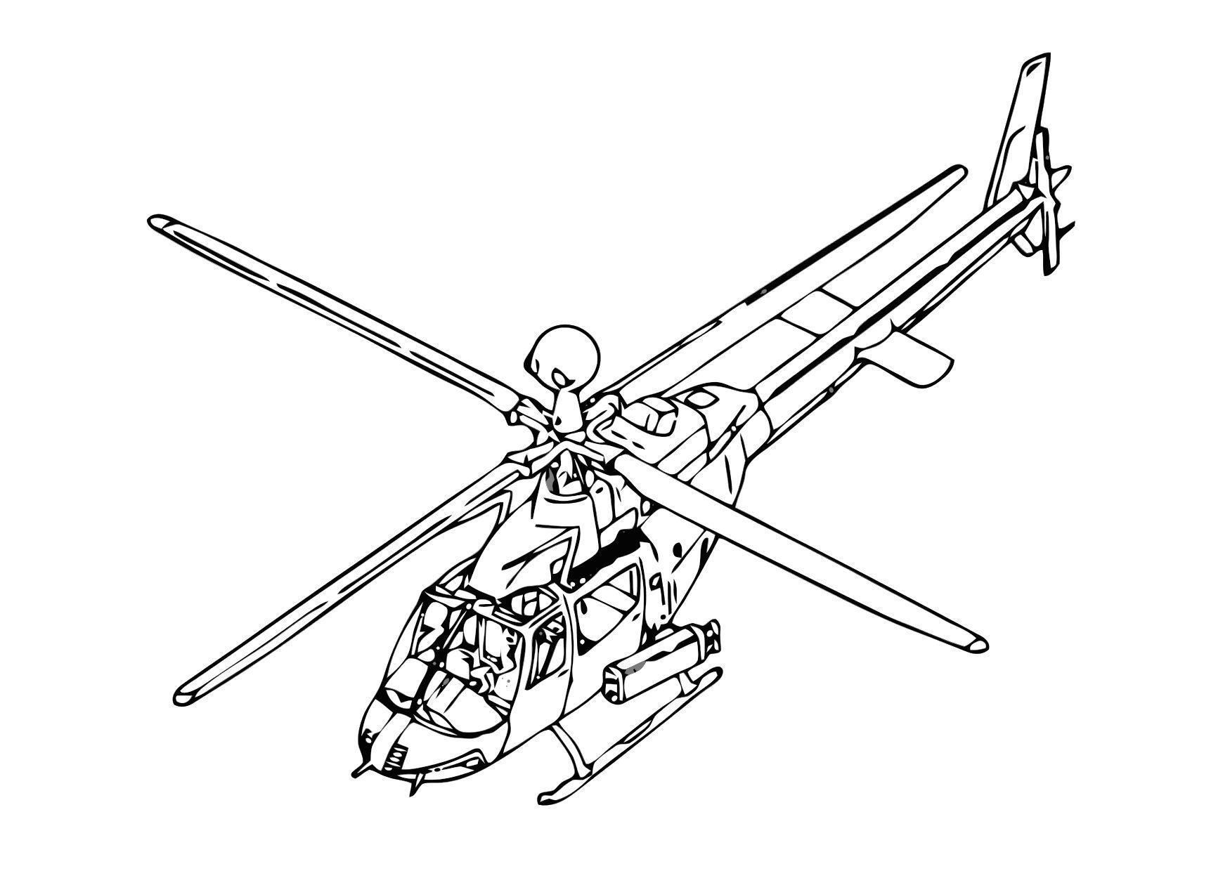 Disegno Da Colorare Elicottero Cat 11862 Images