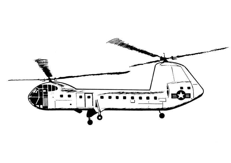 Elicottero Disegno : Disegno da colorare elicottero cat