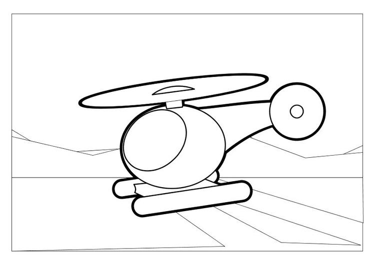 Disegno Da Colorare Elicottero Cat 10209 Images