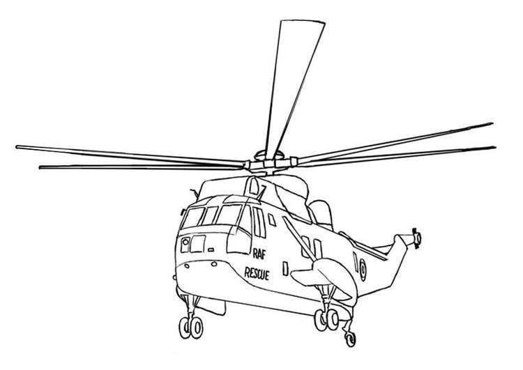 Disegno Da Colorare Elicottero Cat 7535