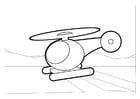 Disegno da colorare elicottero