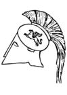 Disegno da colorare elmo greco