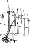 Disegno da colorare energia eolica