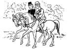 Disegno da colorare equitazione
