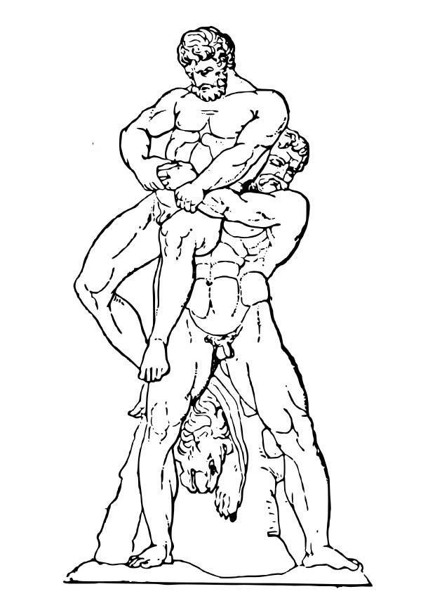 Disegno Da Colorare Ercole E Anteo Cat 18629 Images