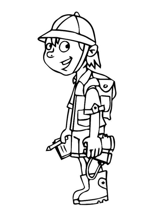 Scouting Kleurplaat Disegno Da Colorare Esploratore Cat 29013