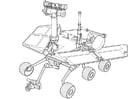 Disegno da colorare esplorazione su Marte