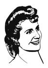 Disegno da colorare Eva Perón
