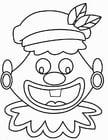 Disegno da colorare faccia Zwarte Piet
