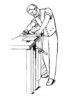 Disegno da colorare falegname