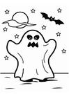 Disegno da colorare fantasma di Halloween
