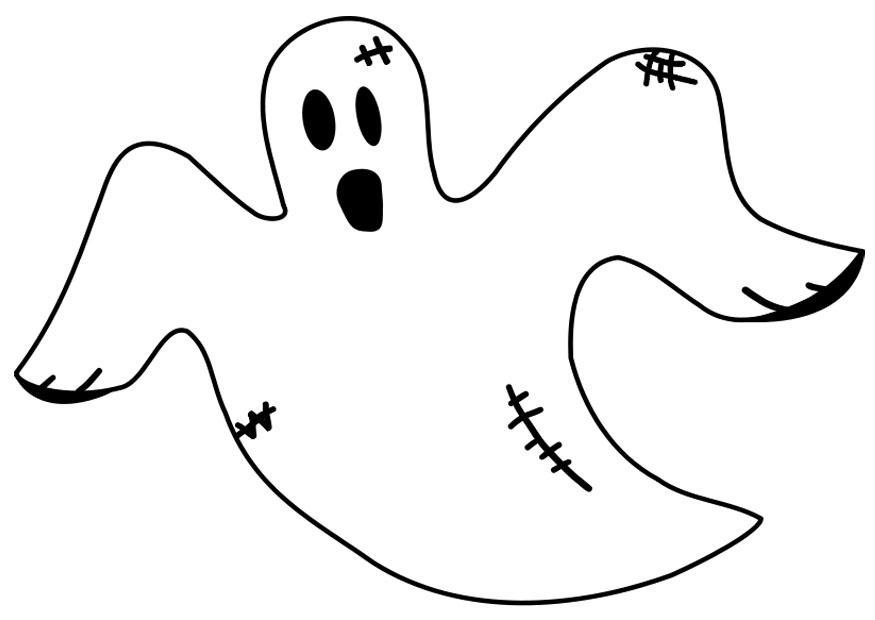 disegni da colorare halloween fantasmi