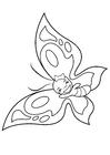 Disegno da colorare farfalla allegra