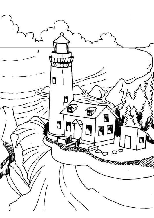 Disegno da colorare faro cat 7363 for Disegni per la casa del merluzzo cape