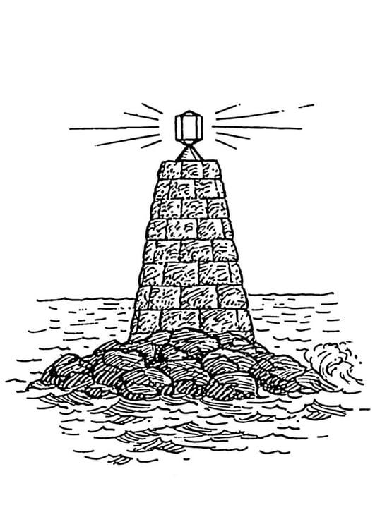 Disegno Da Colorare Faro Sul Mare Cat 18883