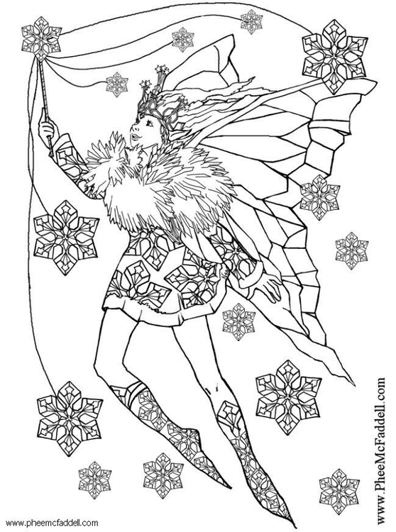 Disegno da colorare fata della neve cat 6117 - Fata immagine da colorare ...