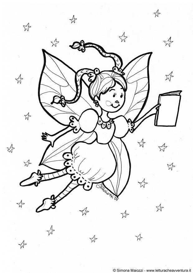 Disegno Da Colorare Fata Cat 12324