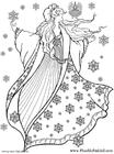 Disegno da colorare fata dll'inverno