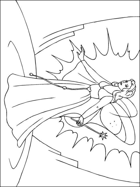 Disegno da colorare fata magica cat 22818 - Fata immagine da colorare ...