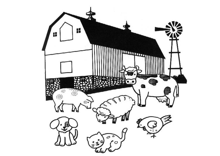 Disegno da colorare fattoria cat 8990 for Foto di fattoria moderna