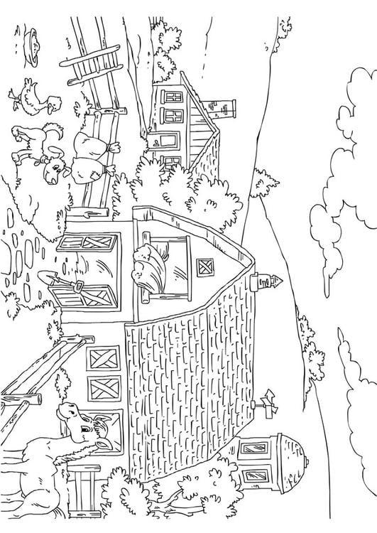 Disegno da colorare fattoria cat 26227 for Fattoria immagini da colorare