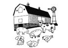 Disegno da colorare fattoria
