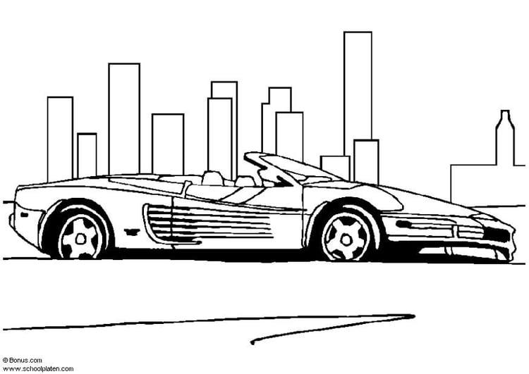 Disegno Da Colorare Ferrari Testarossa Cat 5440