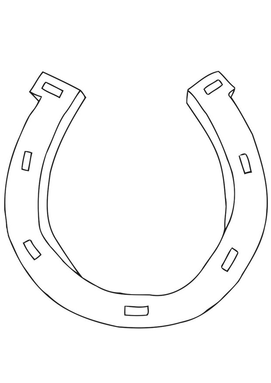 disegno da colorare ferro di cavallo cat 21699