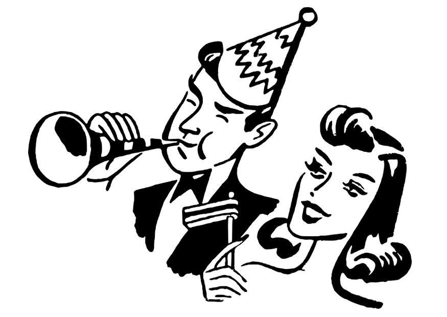 Disegno da colorare festa capodanno cat 28094 for Scarica clipart