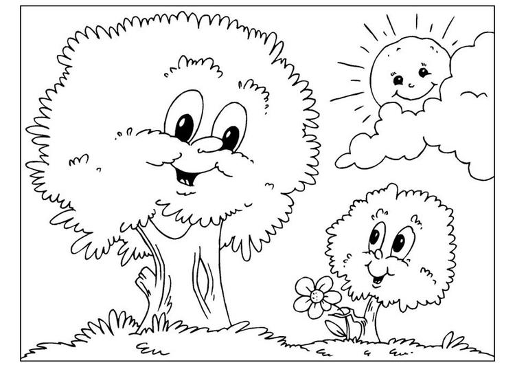 Disegno Da Colorare Festa Del Papà Alberi Cat 25892