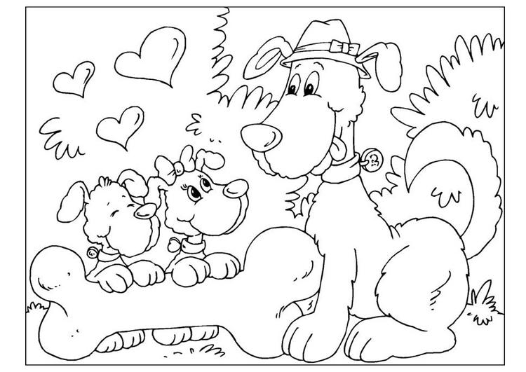 Disegno Da Colorare Festa Del Papà Cani Cat 25775