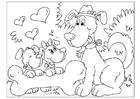Disegno da colorare festa del papà - cani