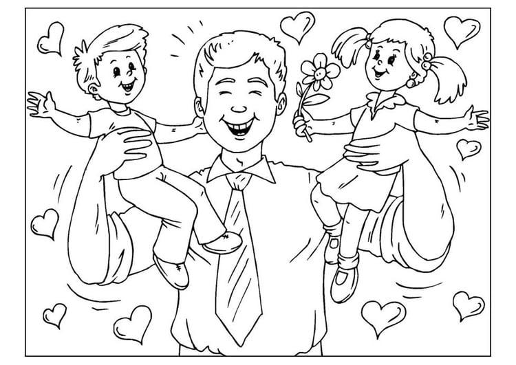Disegno Da Colorare Festa Del Papà Cat 25776