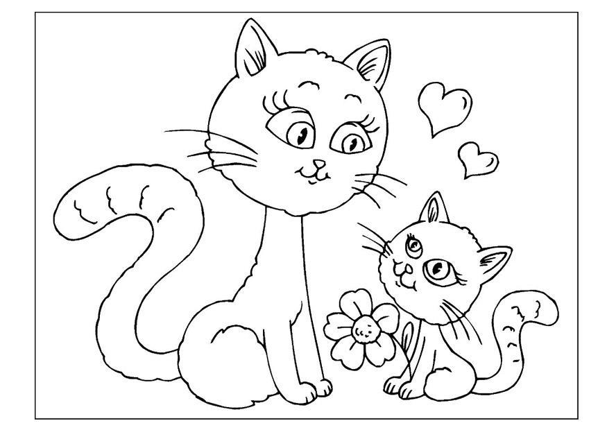 Disegno Da Colorare Festa Della Mamma Cat 25798