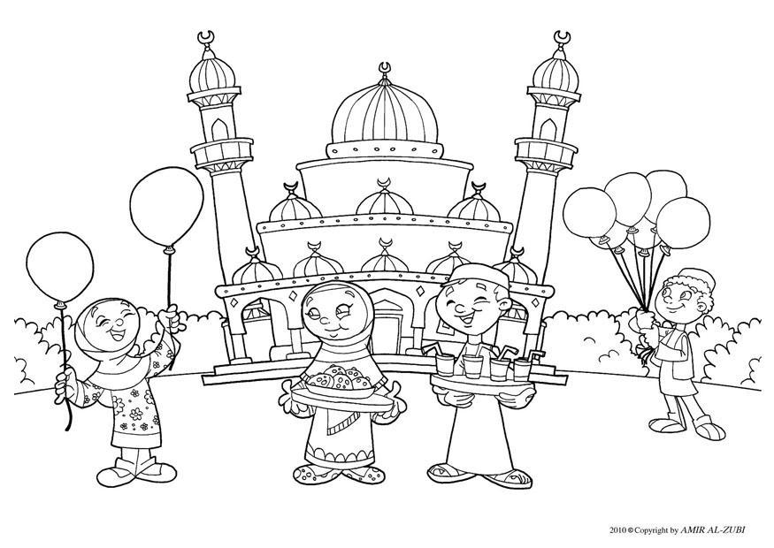 Disegno da colorare festa dello zucchero - Cat. 22027.