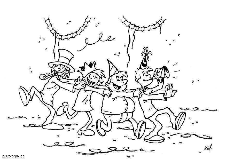 disegno da colorare festa di carnevale  disegni da