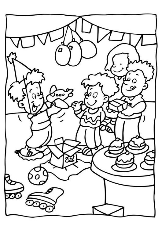 Disegno Da Colorare Festa Di Compleanno Cat 6560